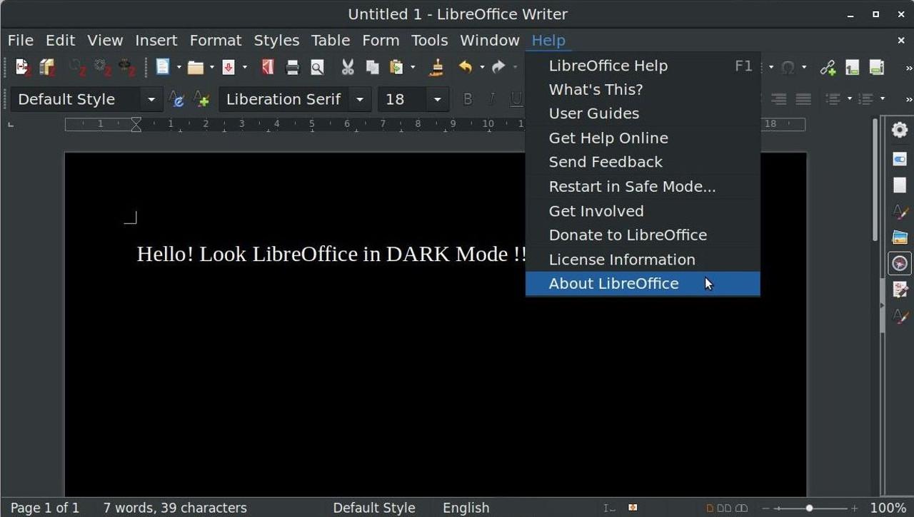 Dark Mode LibreOffice: ecco come passare alla modalità completamente scura
